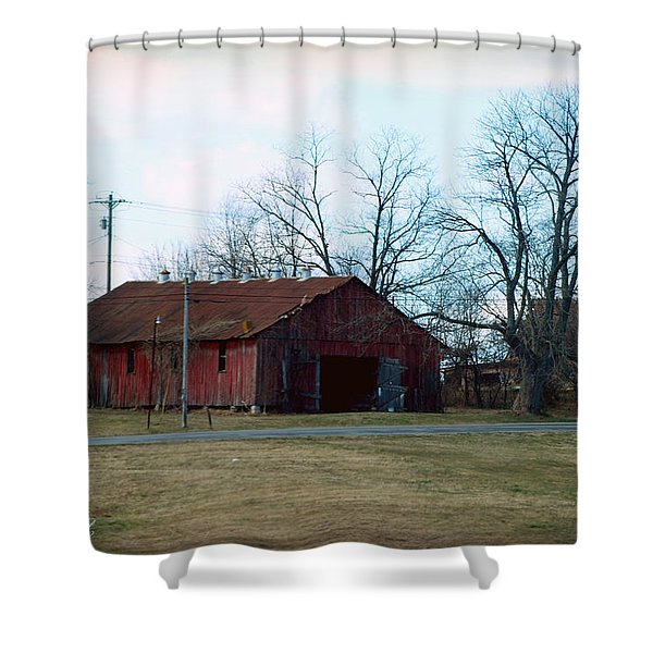 Rugged Shed II Shower Curtain by Paulette B Wright