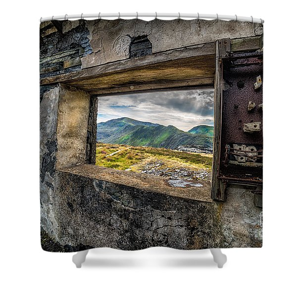 Ruin With A View  Shower Curtain by Adrian Evans