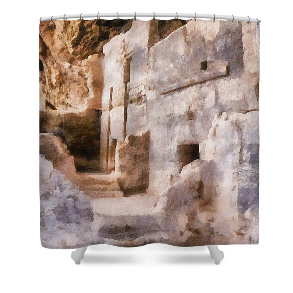 Ruins Shower Curtain by Michelle Calkins