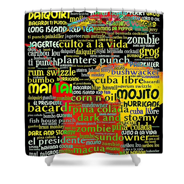 Rum Not Just Your Pirates Drink Anymore 20130627 Shower Curtain by Wingsdomain Art and Photography