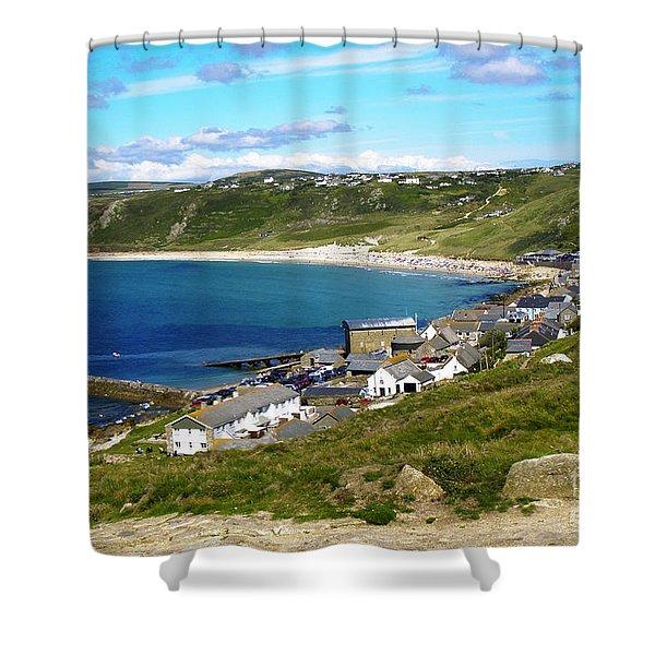 Running To The Beach Shower Curtain by Terri  Waters