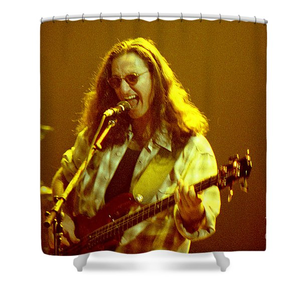 Rush92-geddy-a004 Shower Curtain by Timothy Bischoff