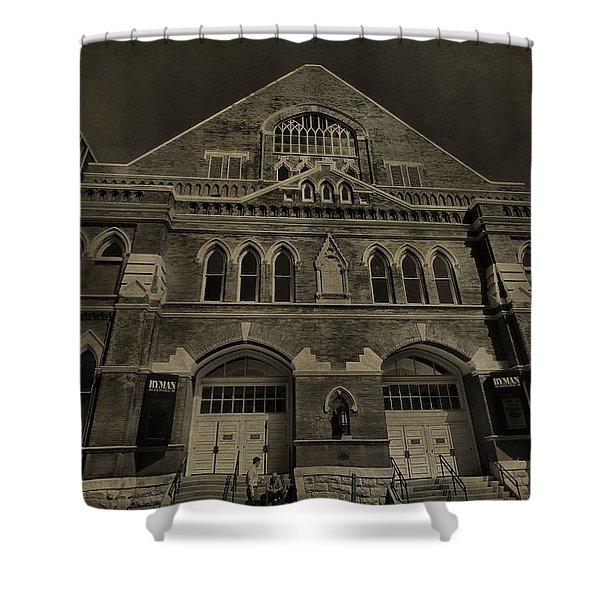Ryman Auditorium Shower Curtain by Dan Sproul