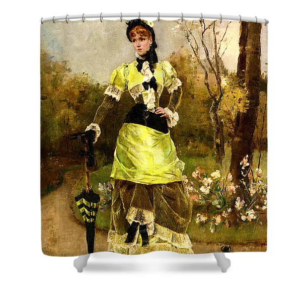 Sa Majeste La Parisienne Shower Curtain by Alfred Stevens