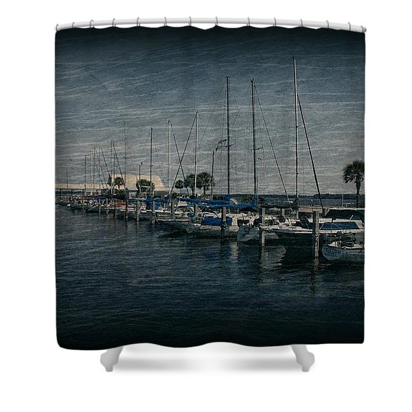 Sailboats Shower Curtain by Sandy Keeton