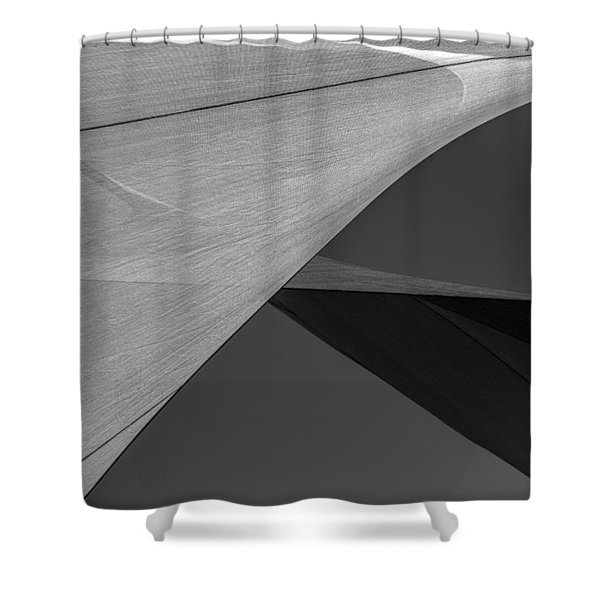 Sailcloth Abstract Number 9 Shower Curtain by Bob Orsillo