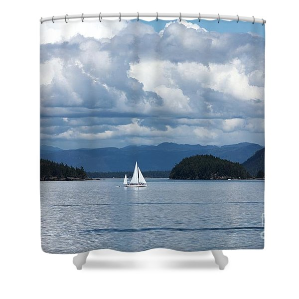 Sailing In The San Juans Shower Curtain by Carol Groenen