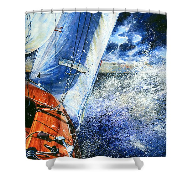 Sailing Souls Shower Curtain by Hanne Lore Koehler