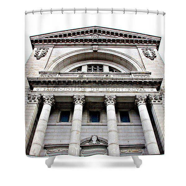 Saint Joseph du Mont Royal Facade Shower Curtain by Valentino Visentini