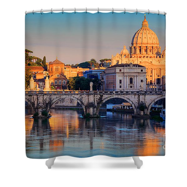 Saint Peters Basilica Shower Curtain by Inge Johnsson