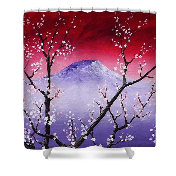 Sakura Shower Curtain by Anastasiya Malakhova