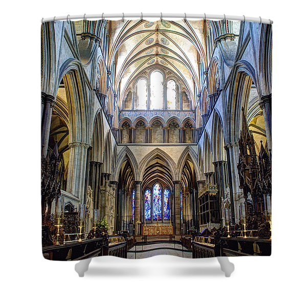 Salisbury Cathedral Shower Curtain by Juli Scalzi
