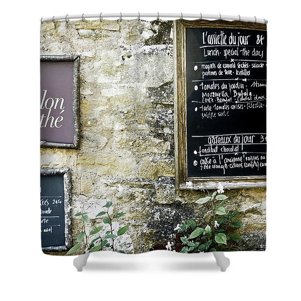 Salon De The - French Menu Signs Shower Curtain by Nomad Art And  Design