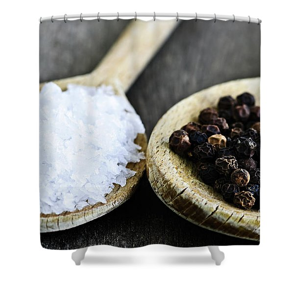 Salt and pepper Shower Curtain by Elena Elisseeva