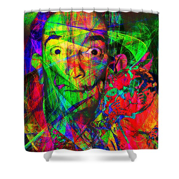 Salvador Dali 20130613 Shower Curtain by Wingsdomain Art and Photography