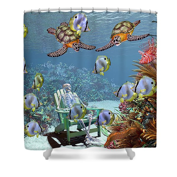 Sam and the Sea Shower Curtain by Betsy C  Knapp