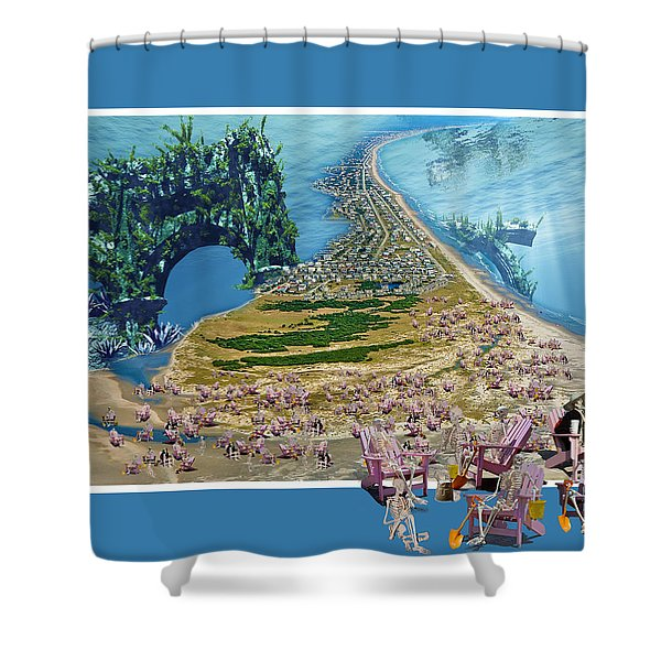Sam and Topsail's Ghost Pirates  Shower Curtain by Betsy C  Knapp