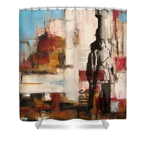 San Diego City Collage 2 Shower Curtain by Corporate Art Task Force