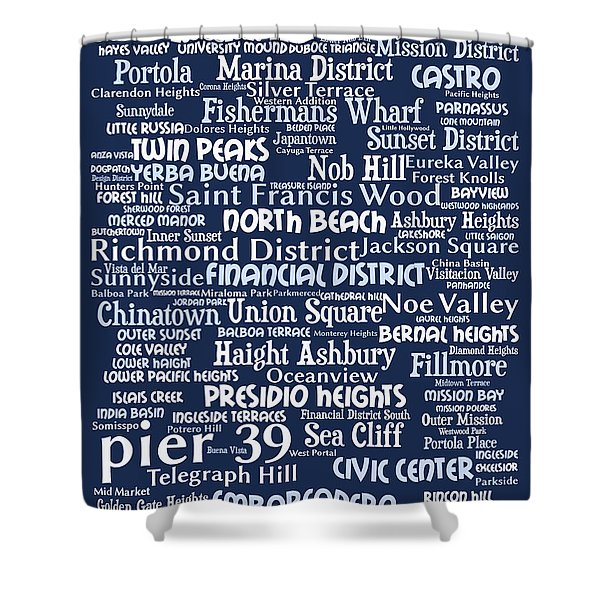 San Francisco 20130710bwco80 Shower Curtain by Wingsdomain Art and Photography