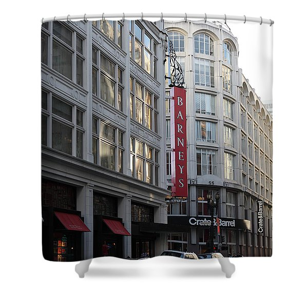 San Francisco Barneys Department Store - 5D20543 Shower Curtain by Wingsdomain Art and Photography