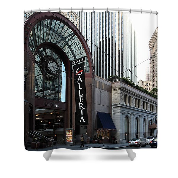 San Francisco Crocker Galleria - 5D20596 Shower Curtain by Wingsdomain Art and Photography