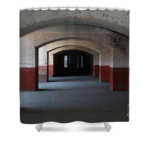 San Francisco Fort Point 5D21544 Shower Curtain by Wingsdomain Art and Photography