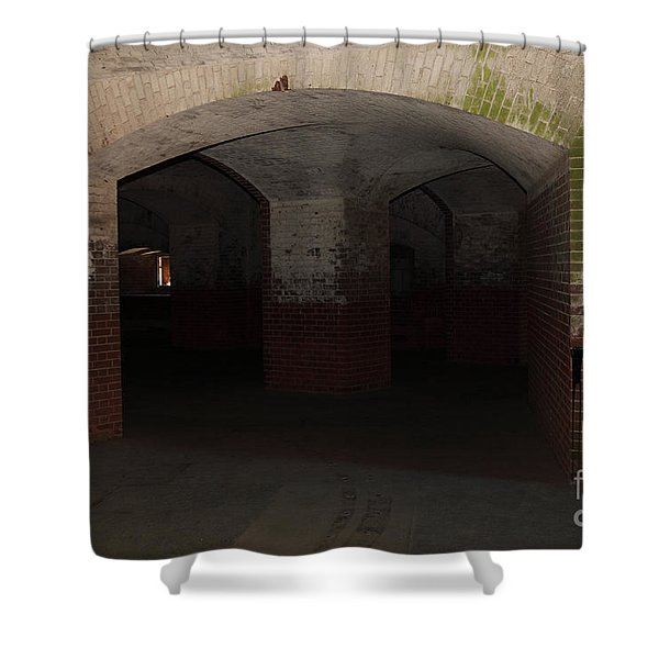 San Francisco Fort Point 5d21548 Shower Curtain by Wingsdomain Art and Photography