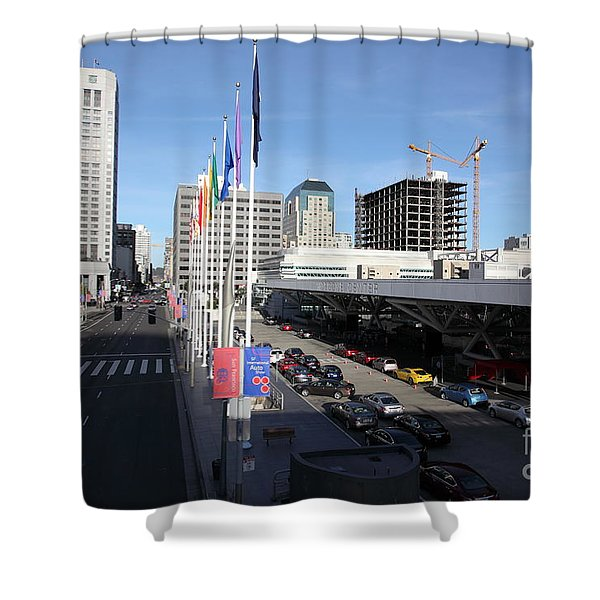 San Francisco Moscone Center and Skyline - 5D20511 Shower Curtain by Wingsdomain Art and Photography