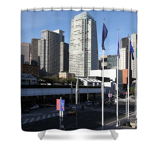 San Francisco Moscone Centerand And Skyline - 5d20504 Shower Curtain by Wingsdomain Art and Photography