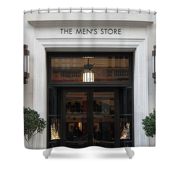 San Francisco Saks Fifth Avenue Store Doors - 5d20573 Shower Curtain by Wingsdomain Art and Photography