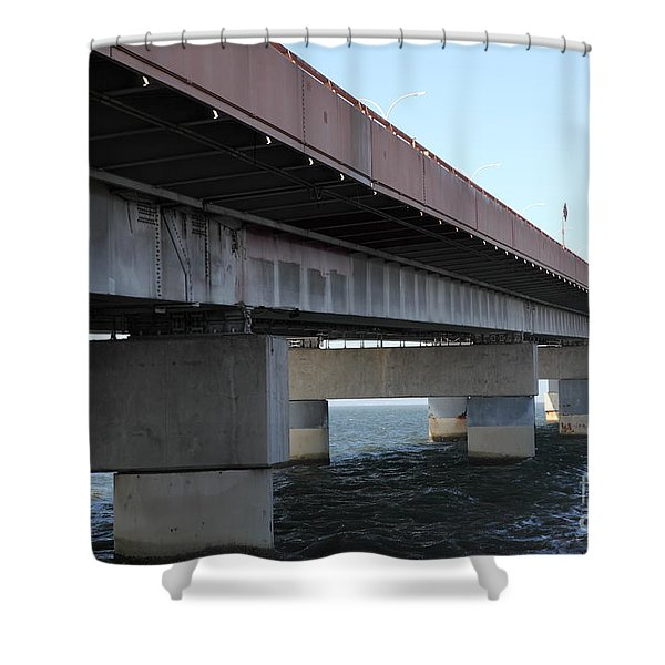 San Mateo Bridge In The California Bay Area 5d21897 Shower Curtain by Wingsdomain Art and Photography