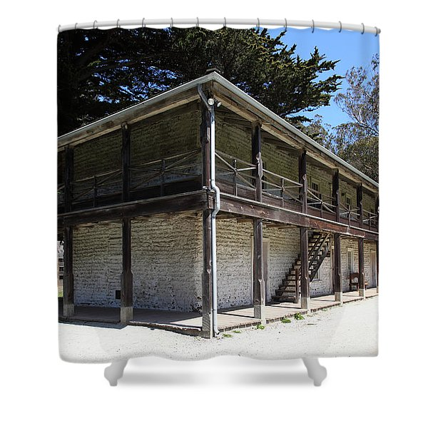 Sanchez Adobe Pacifica California 5d22642 Shower Curtain by Wingsdomain Art and Photography