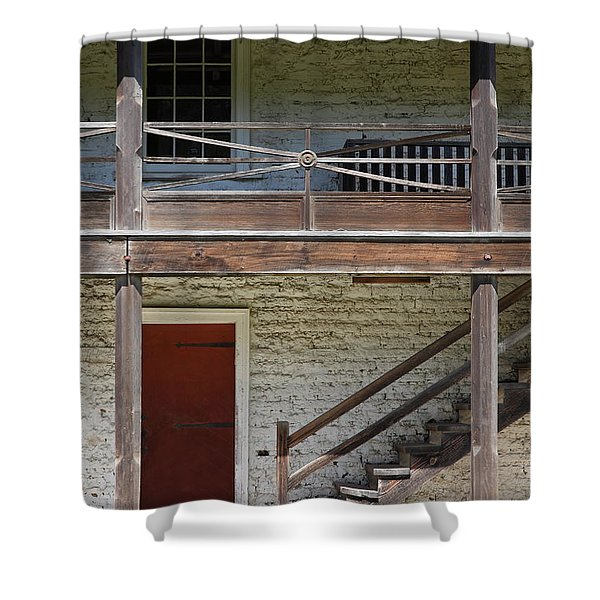 Sanchez Adobe Pacifica California 5D22657 Shower Curtain by Wingsdomain Art and Photography