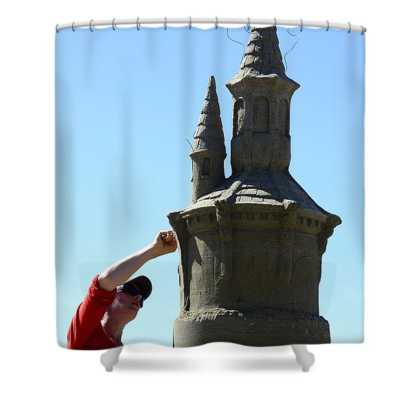 Sand Castle 1 Shower Curtain by Bob Christopher