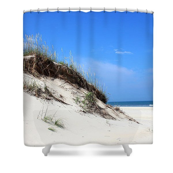 Sand Dunes Of Corolla Outer Banks Obx Shower Curtain by Design Turnpike