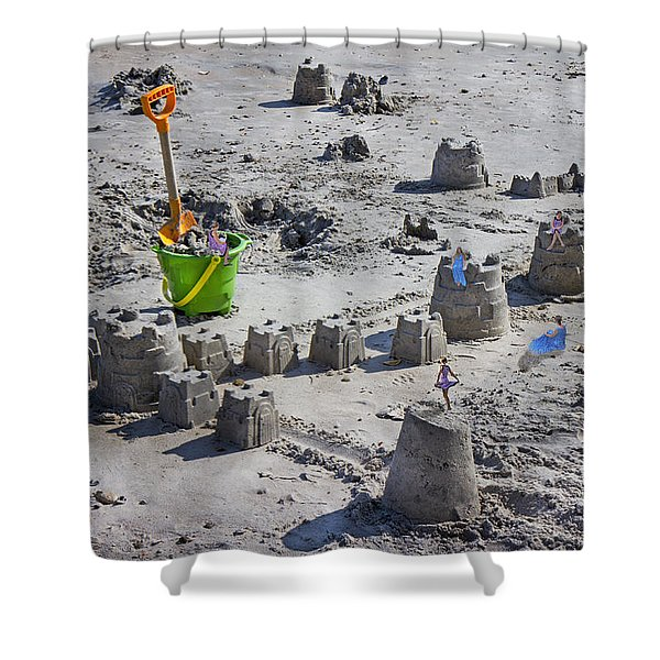 Sandcastle Squatters Shower Curtain by Betsy C  Knapp