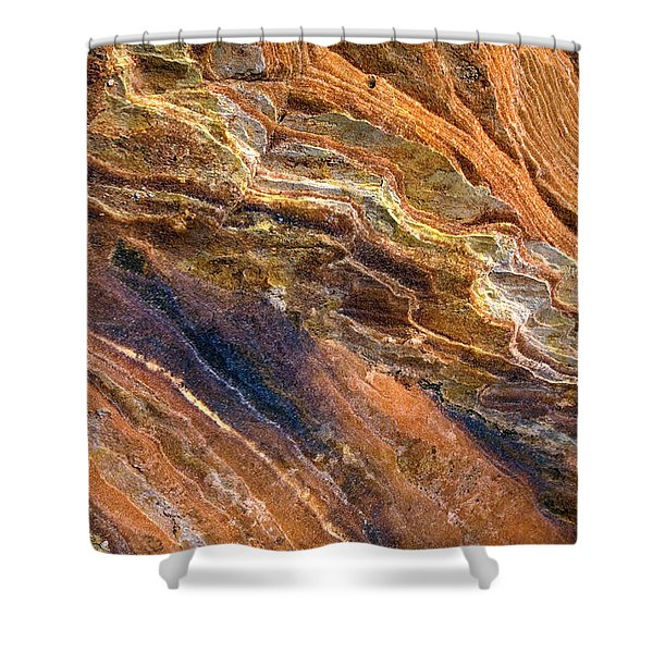 Sandstone Tapestry Shower Curtain by Mike  Dawson