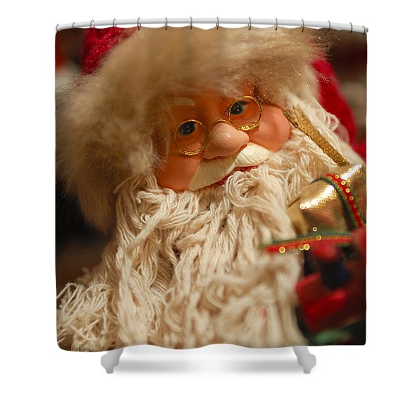 Santa Claus - Antique Ornament - 08 Shower Curtain by Jill Reger