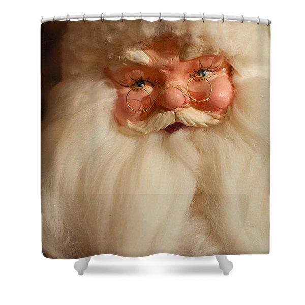Santa Claus - Antique Ornament - 14 Shower Curtain by Jill Reger