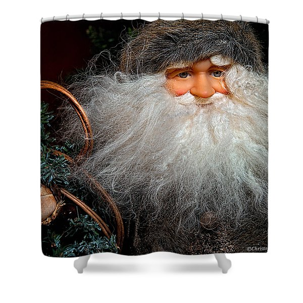 Santa Claus Shower Curtain by Christopher Holmes