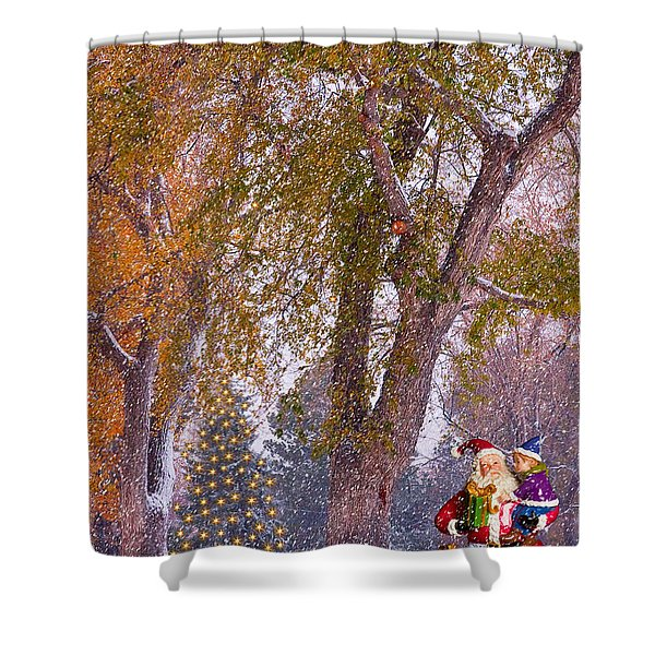 Santa Claus In the Snow Shower Curtain by James BO  Insogna