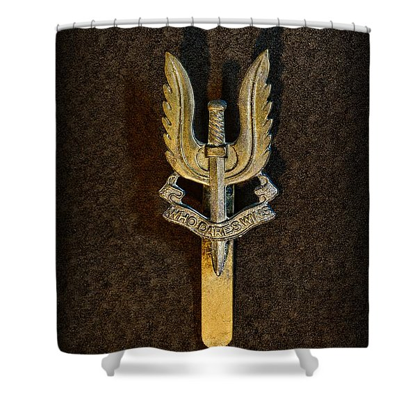 SAS - Special Air Service - Who Dares Wins Shower Curtain by Paul Ward