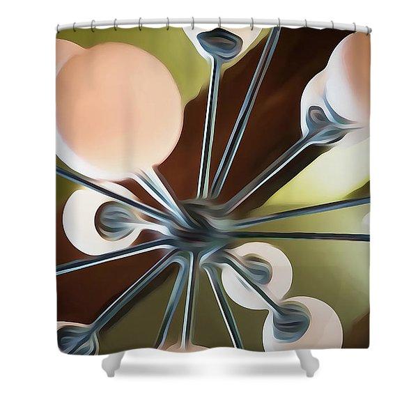 Satellite Shower Curtain by Scott Norris