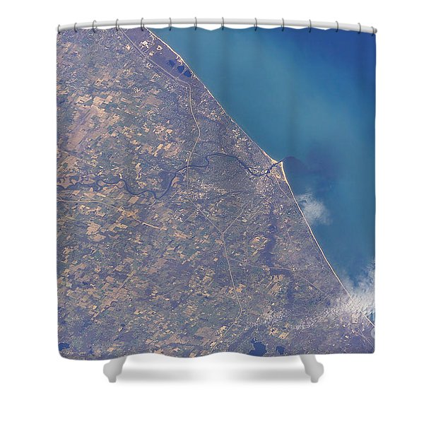 Satellite View Of St. Joseph Area Shower Curtain by Stocktrek Images