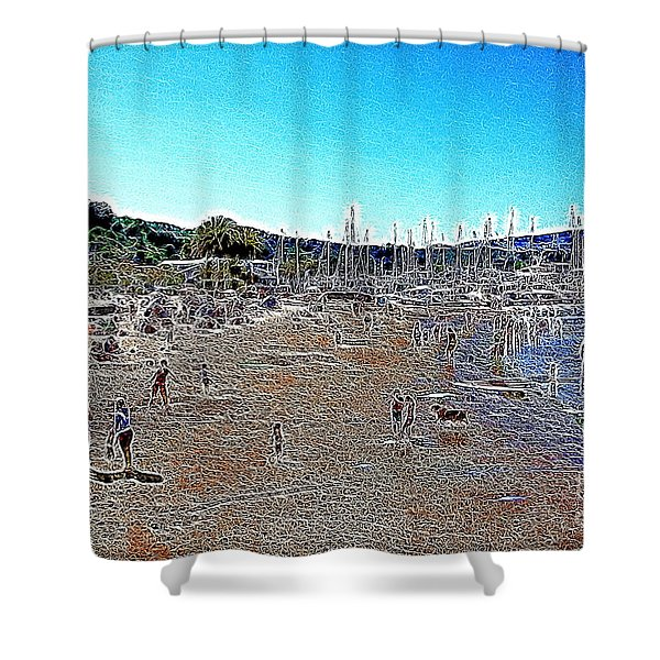 Sausalito Beach Sausalito California 5D22696 Artwork Shower Curtain by Wingsdomain Art and Photography