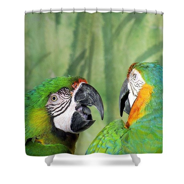 Say What? You Grounded Me For Flirting With Chick Named Daisy? Shower Curtain by Lingfai Leung