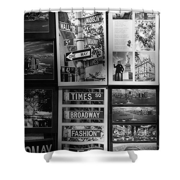 SCENES OF NEW YORK in BLACK AND WHITE Shower Curtain by ROB HANS