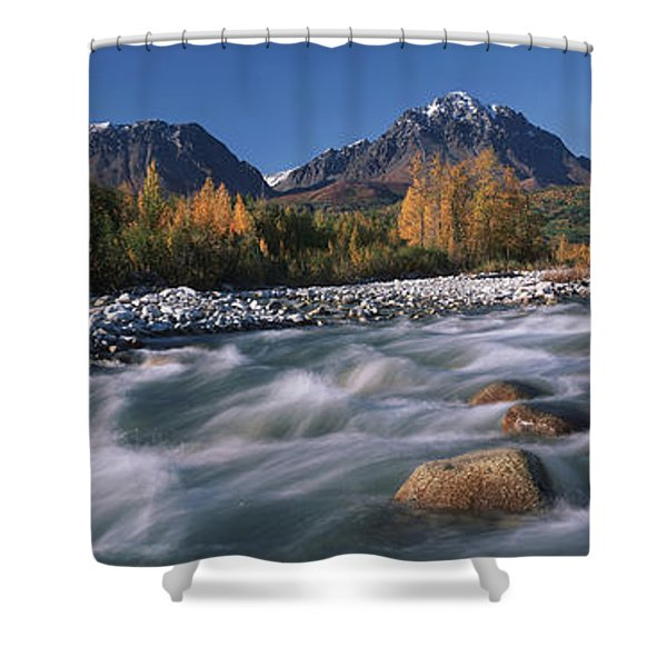 Scenic Of Granite Creek In Autumn Sc Shower Curtain by Calvin Hall