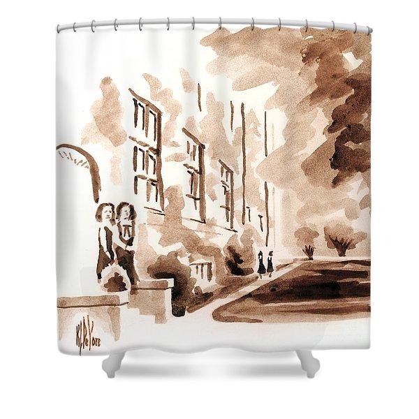 School Days At Ursuline Shower Curtain by Kip DeVore