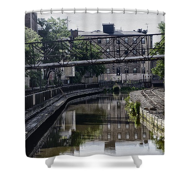 Schuylkill Canal in Manayunk Shower Curtain by Bill Cannon